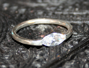 cubic zirconia compression ring